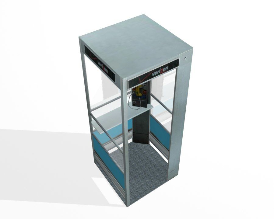 Phone Booth royalty-free 3d model - Preview no. 4
