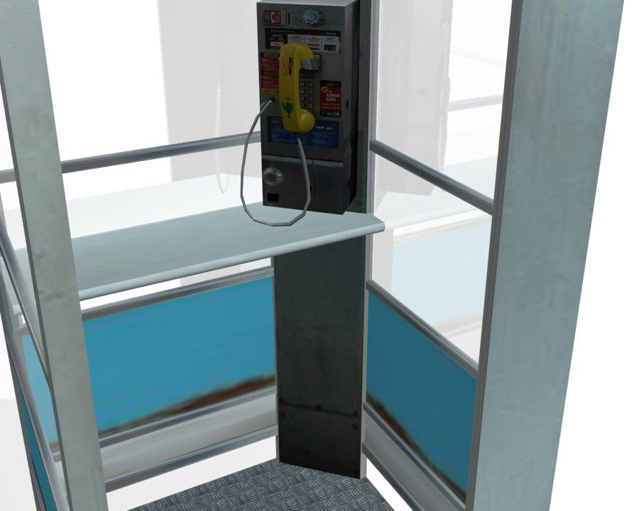 Phone Booth royalty-free 3d model - Preview no. 5