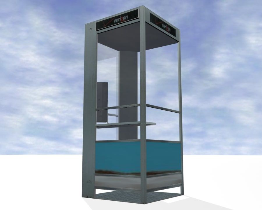 Phone Booth royalty-free 3d model - Preview no. 6