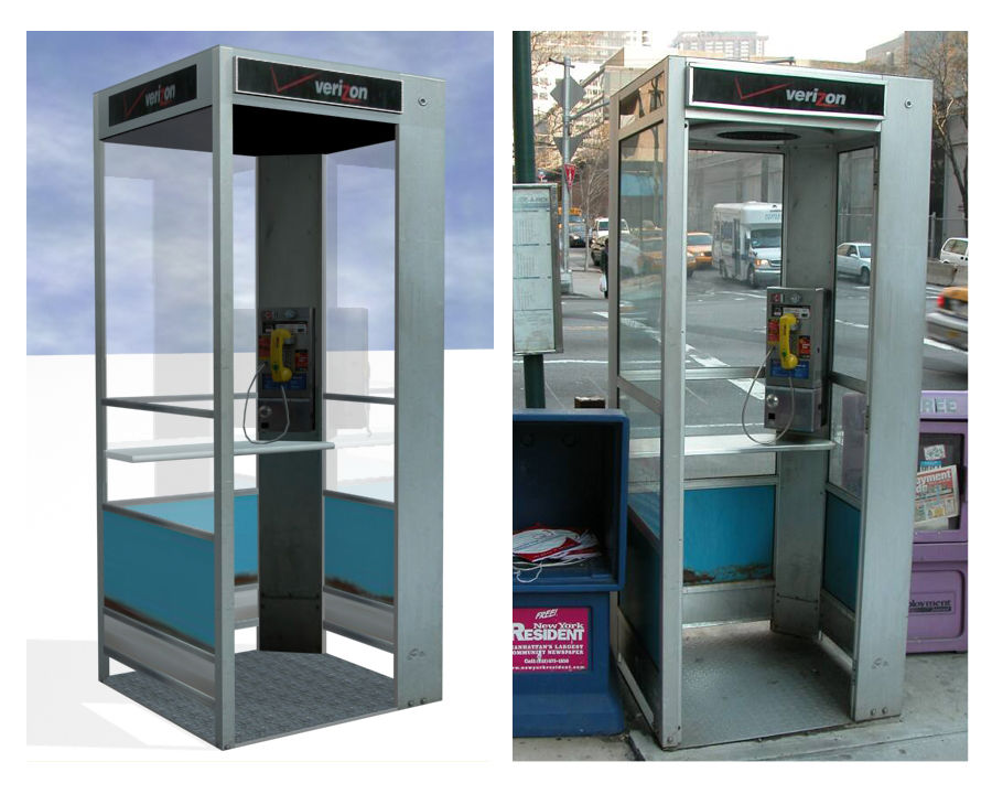 Phone Booth royalty-free 3d model - Preview no. 1