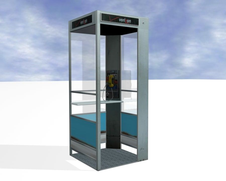 Phone Booth royalty-free 3d model - Preview no. 2