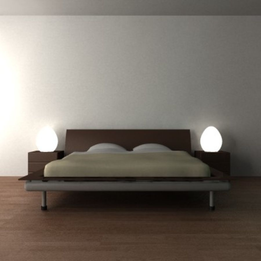 p3d_bed royalty-free 3d model - Preview no. 1