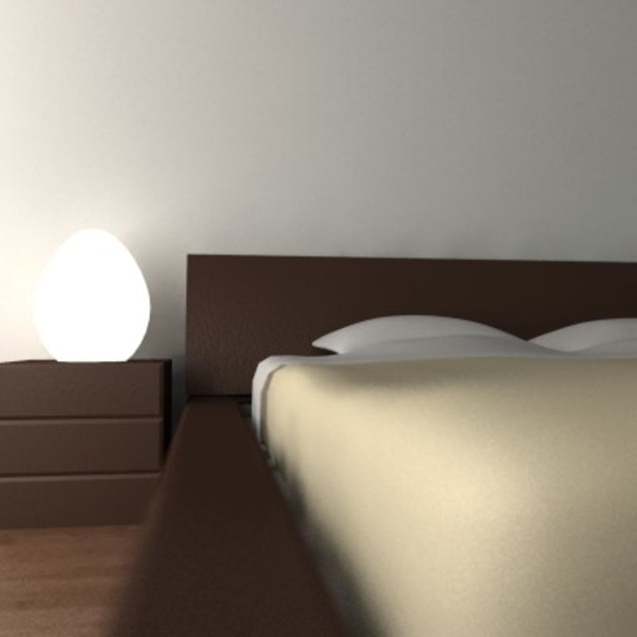 p3d_bed royalty-free 3d model - Preview no. 3