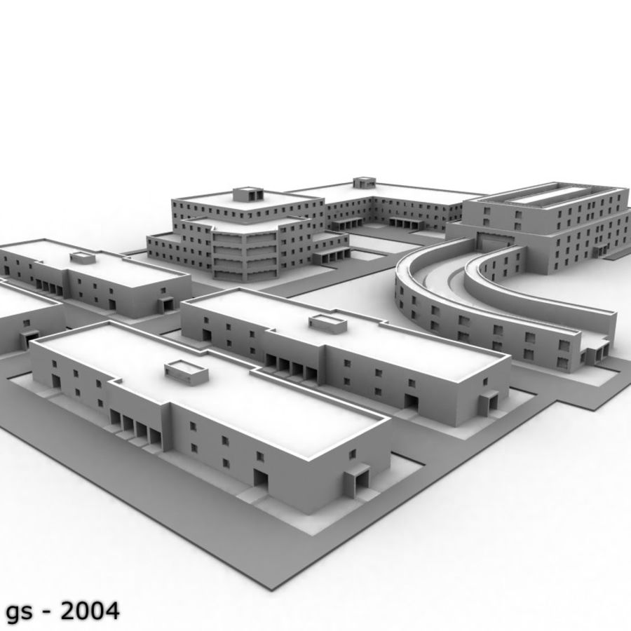University Complex royalty-free 3d model - Preview no. 1