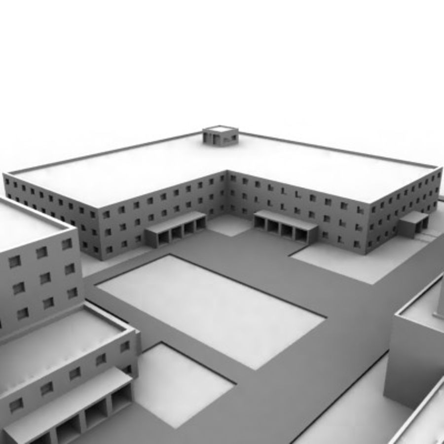 University Complex royalty-free 3d model - Preview no. 17