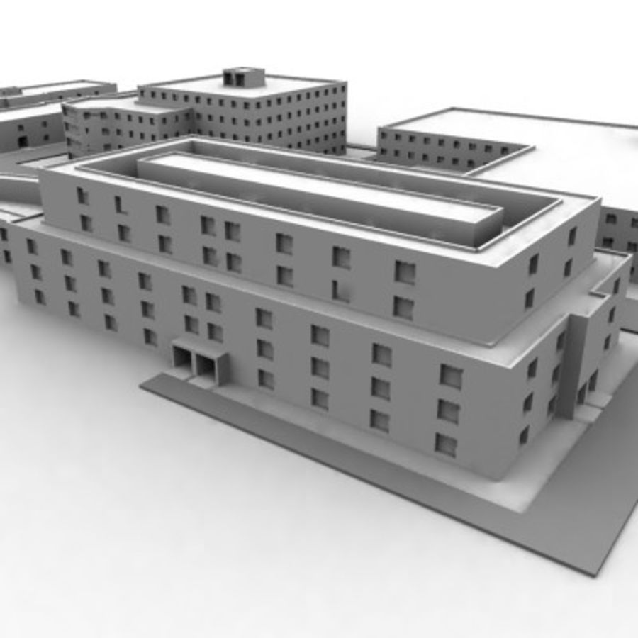 University Complex royalty-free 3d model - Preview no. 14