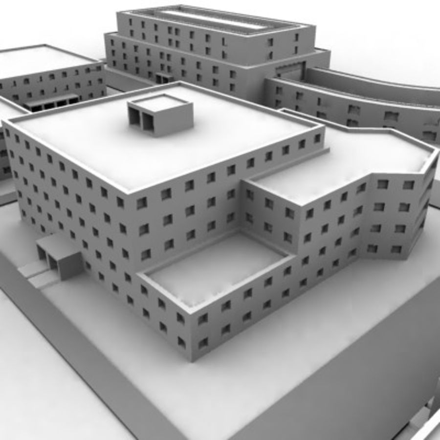 University Complex royalty-free 3d model - Preview no. 11