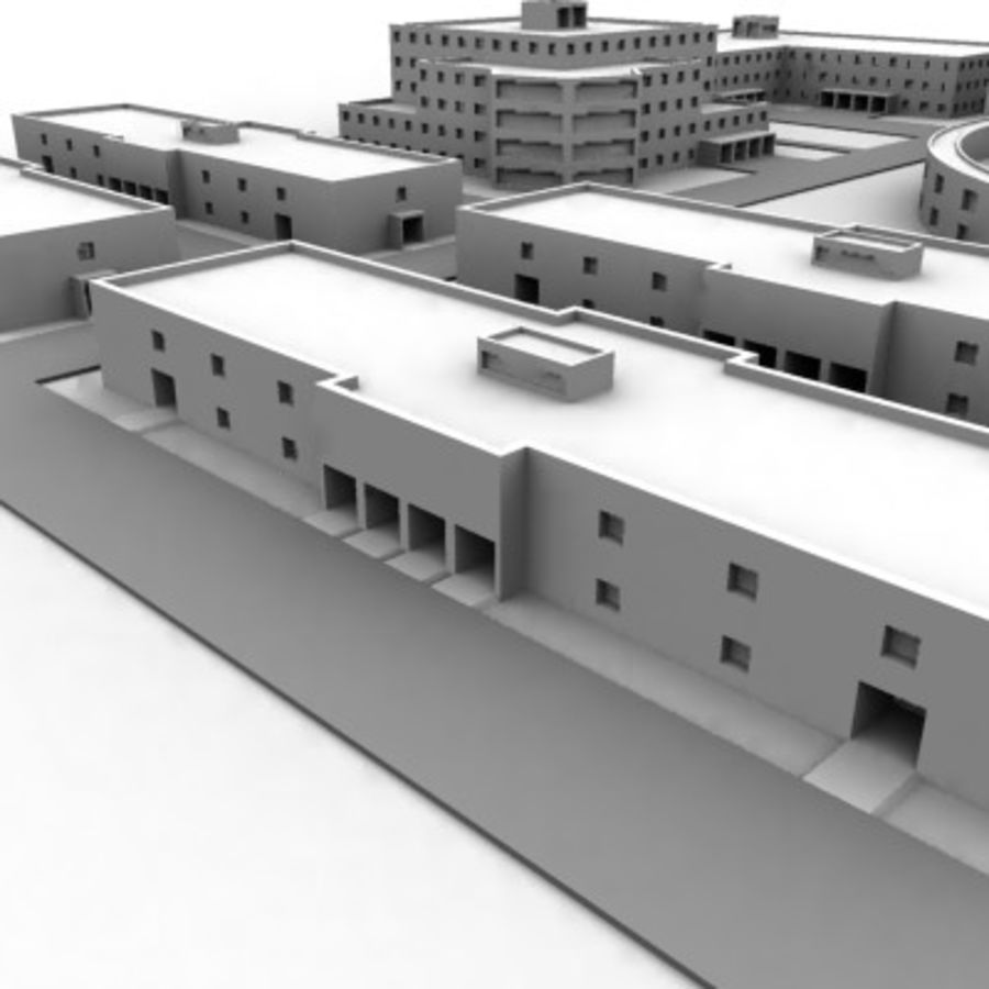 University Complex royalty-free 3d model - Preview no. 7