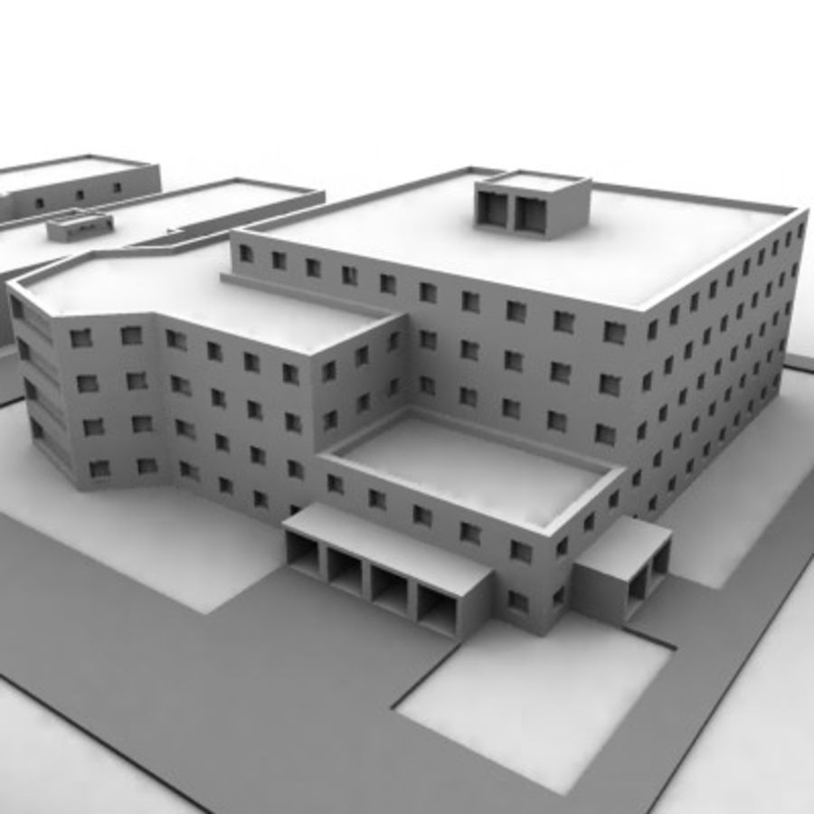 University Complex royalty-free 3d model - Preview no. 13