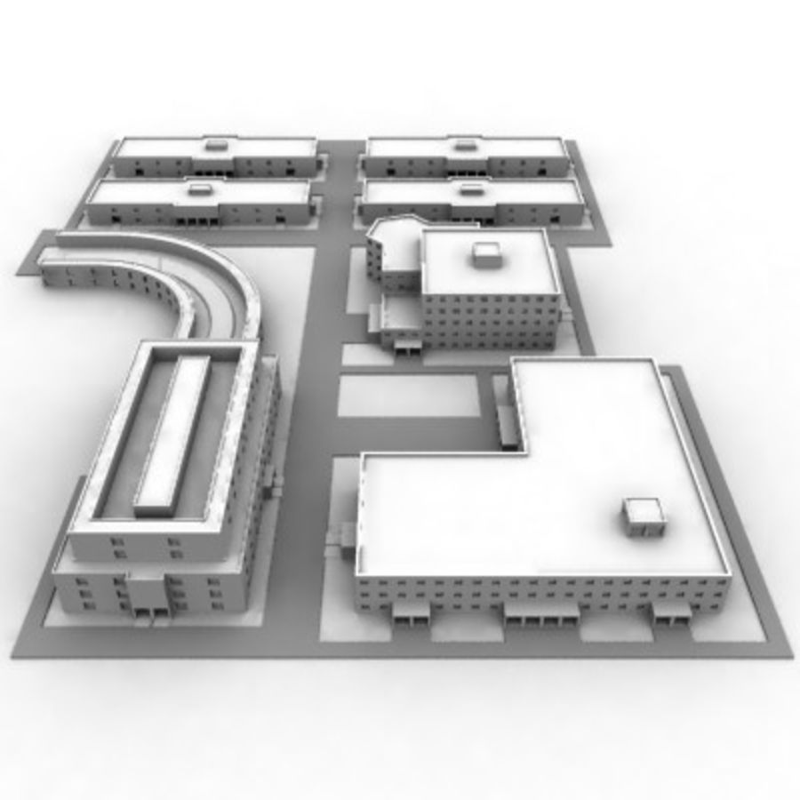 University Complex royalty-free 3d model - Preview no. 4