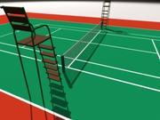 Tennis Court basic 3d model