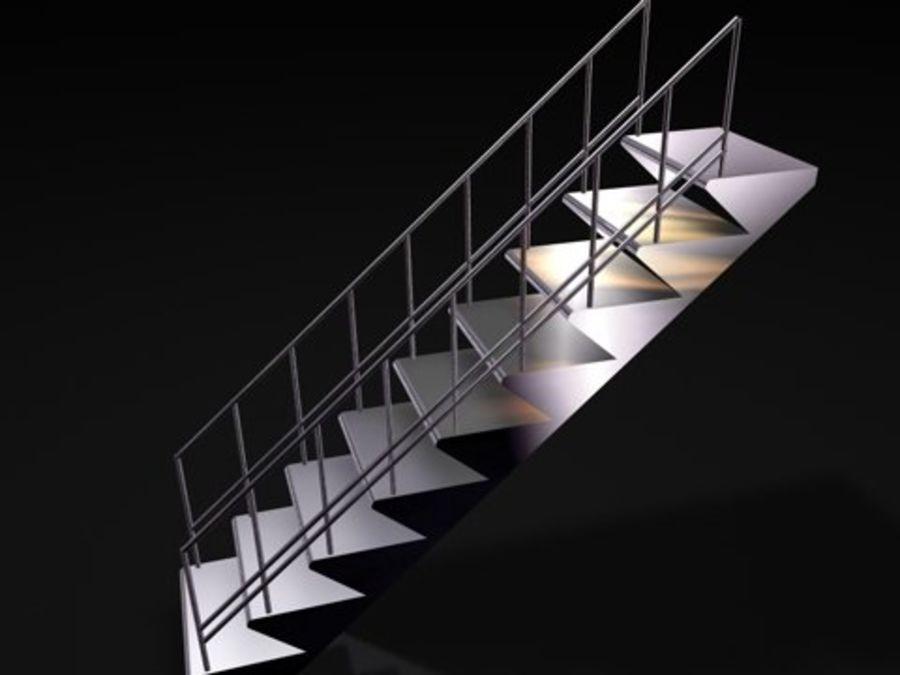 escaliers métalliques royalty-free 3d model - Preview no. 2