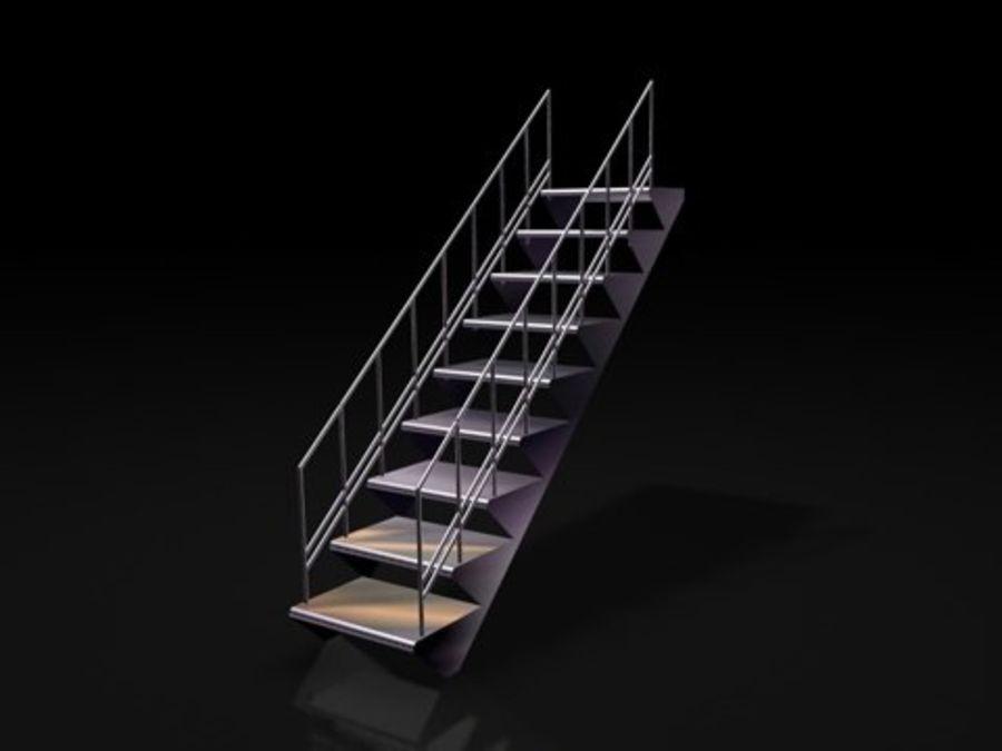 escaliers métalliques royalty-free 3d model - Preview no. 1