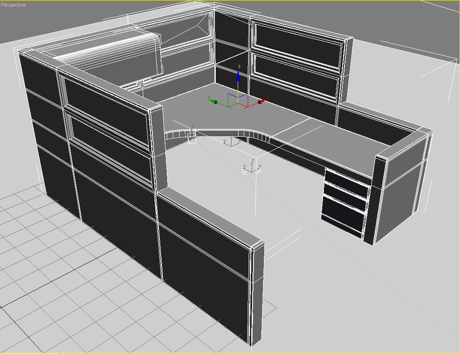 cubicle3DS.3DS royalty-free 3d model - Preview no. 1
