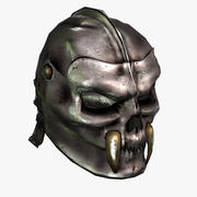 Skull-Helmet (low) 3d model