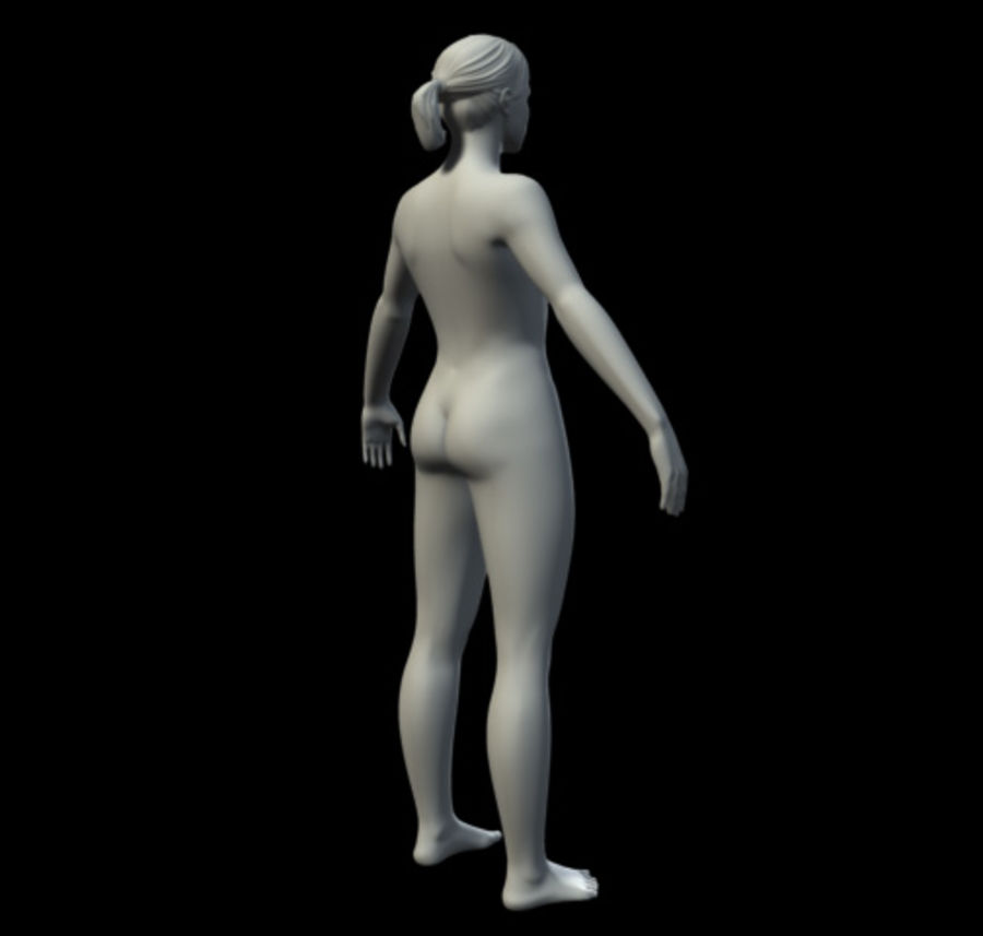 Femme basique royalty-free 3d model - Preview no. 4