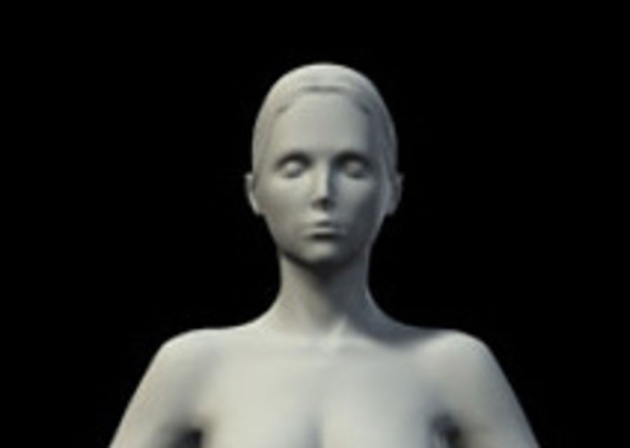 Femme basique royalty-free 3d model - Preview no. 2