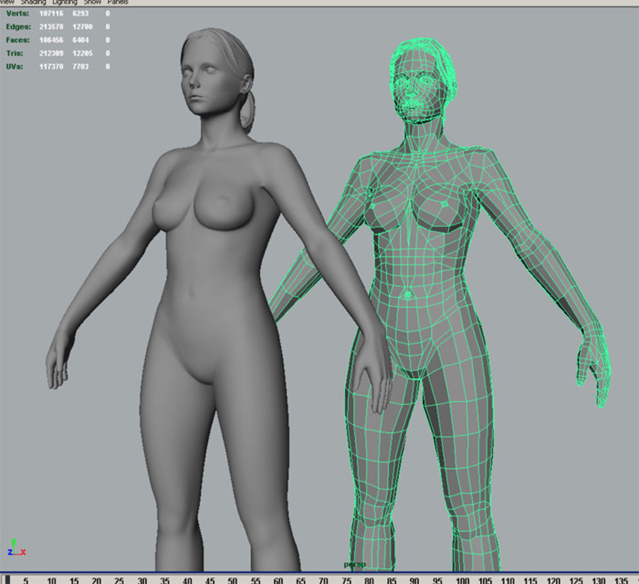 Femme basique royalty-free 3d model - Preview no. 5