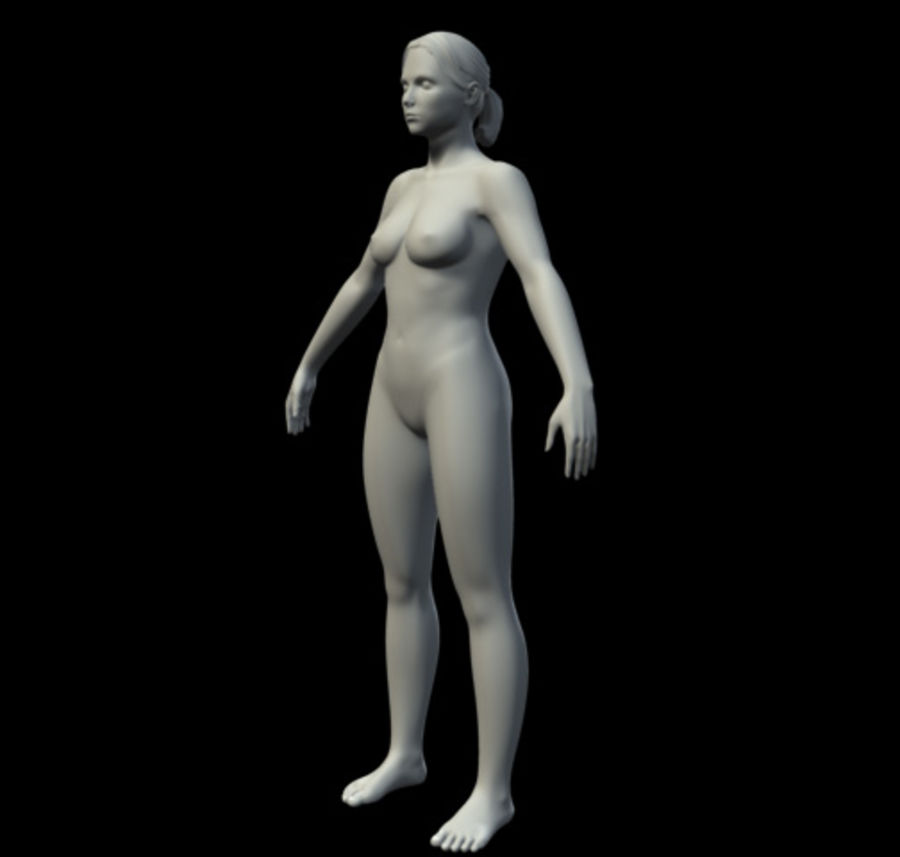 Femme basique royalty-free 3d model - Preview no. 3
