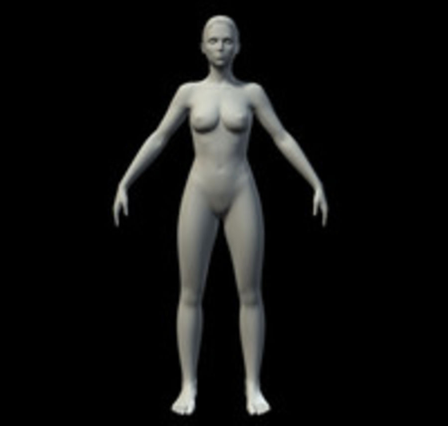 Femme basique royalty-free 3d model - Preview no. 1