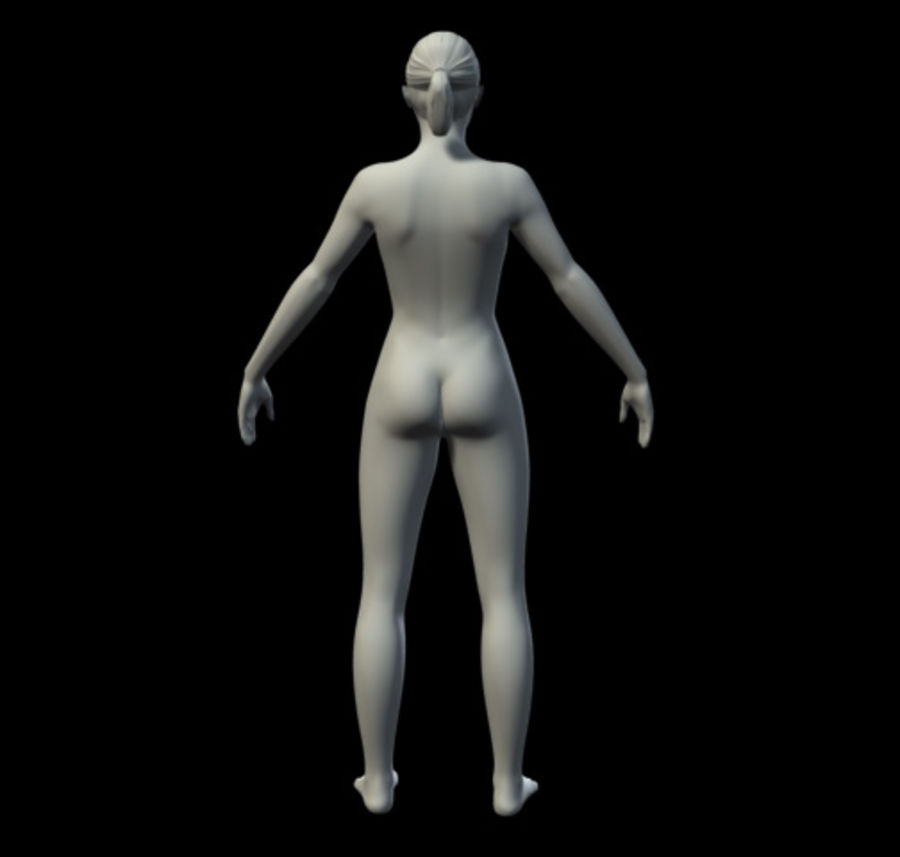 Femme basique royalty-free 3d model - Preview no. 6