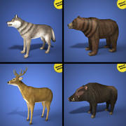 Realtime dieren collectie 3d model