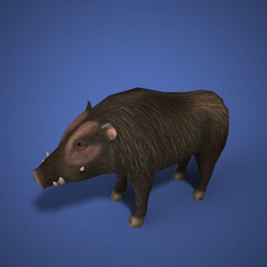 Colección de animales en tiempo real royalty-free modelo 3d - Preview no. 5