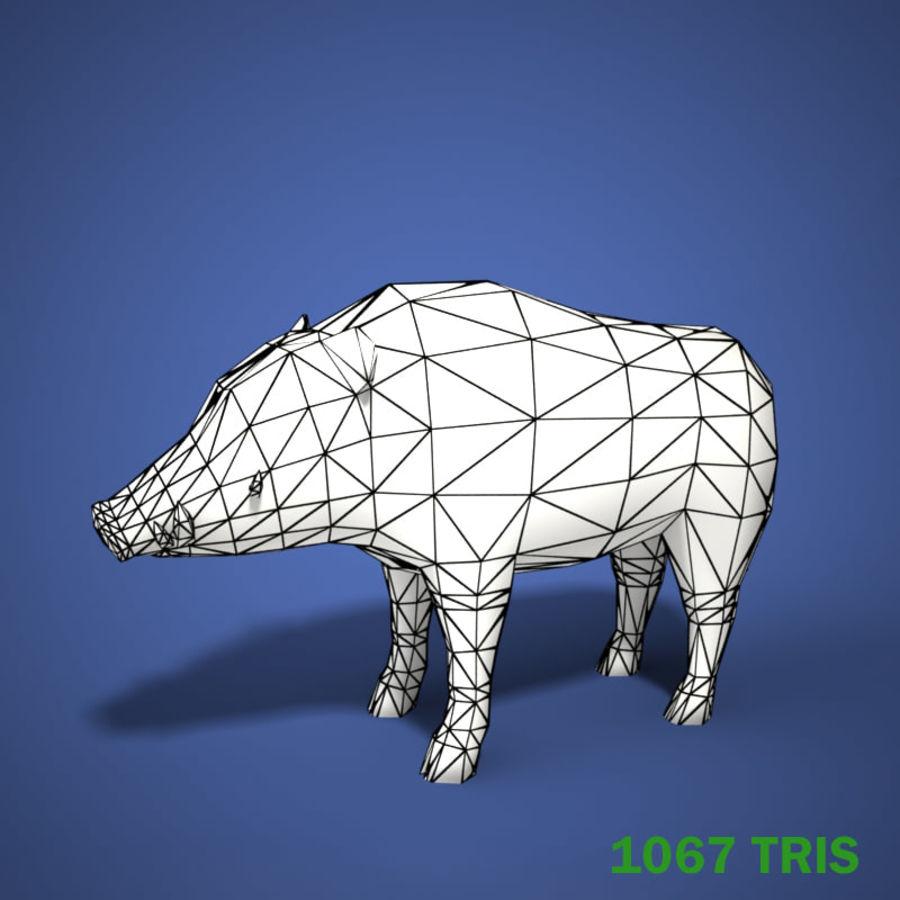 Colección de animales en tiempo real royalty-free modelo 3d - Preview no. 12