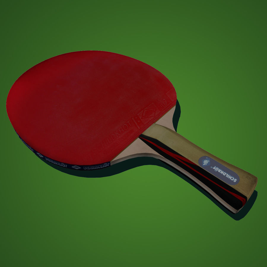 Table Tennis Paddle royalty-free 3d model - Preview no. 2