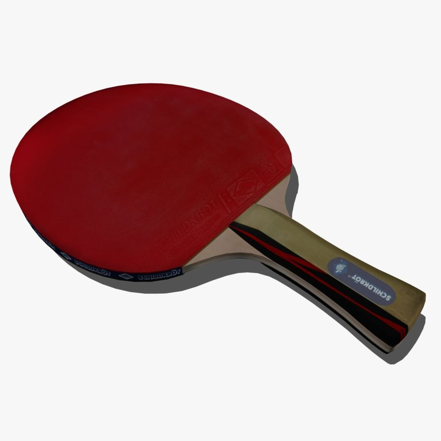 Table Tennis Paddle royalty-free 3d model - Preview no. 1