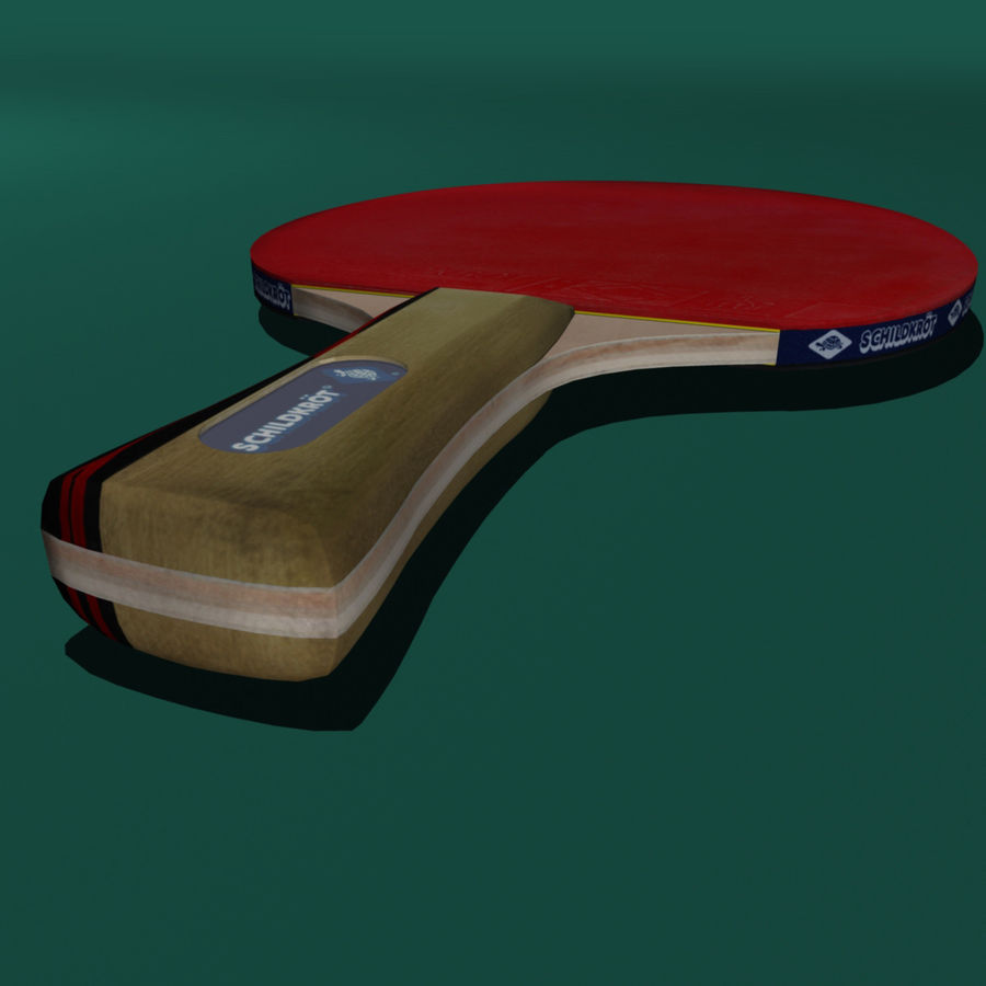 Table Tennis Paddle royalty-free 3d model - Preview no. 4