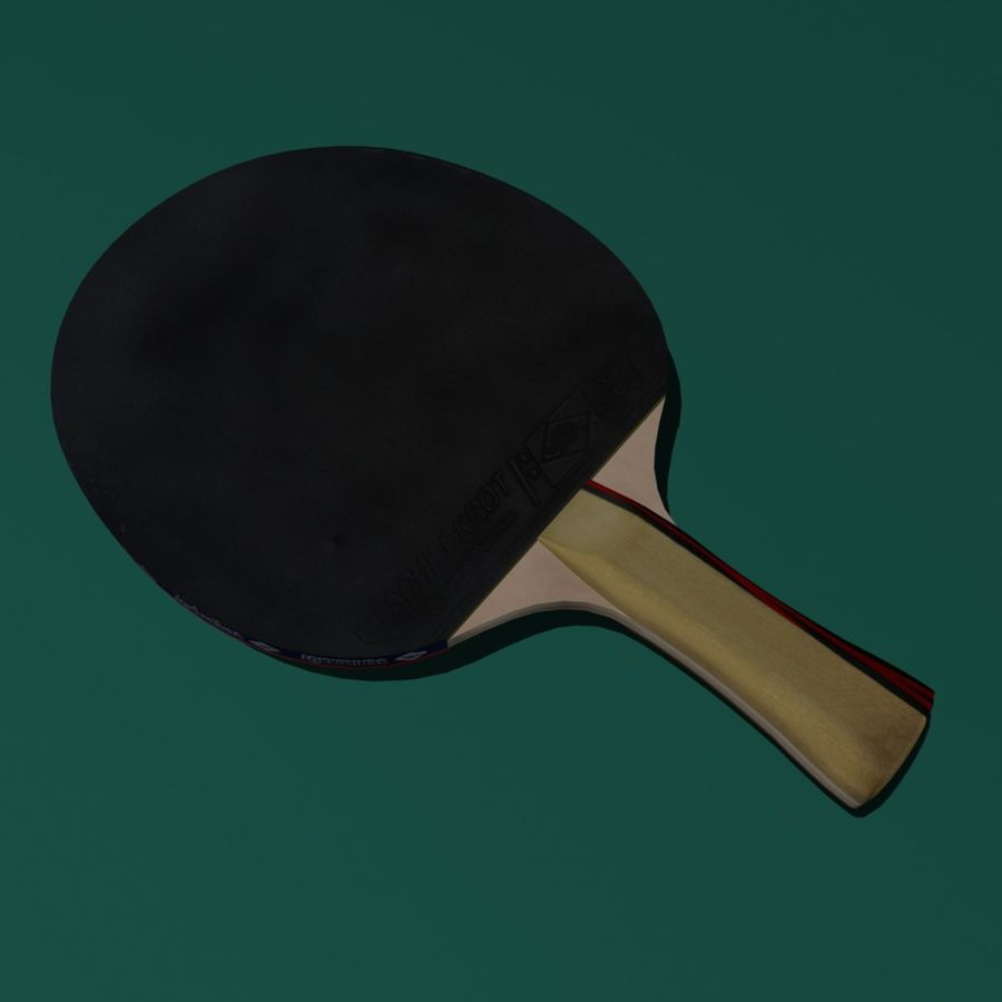 Table Tennis Paddle royalty-free 3d model - Preview no. 3