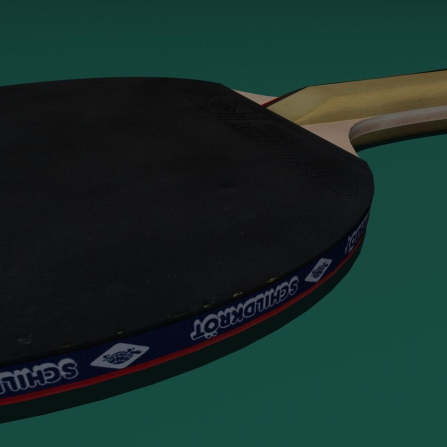 Table Tennis Paddle royalty-free 3d model - Preview no. 5