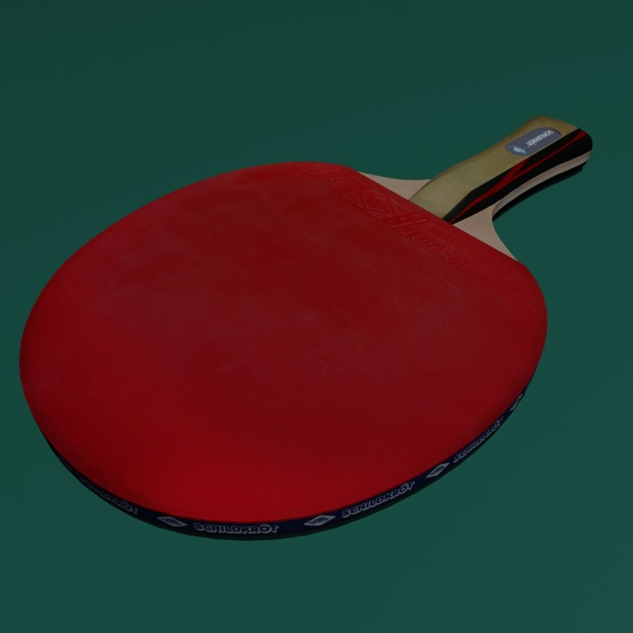 Table Tennis Paddle royalty-free 3d model - Preview no. 6