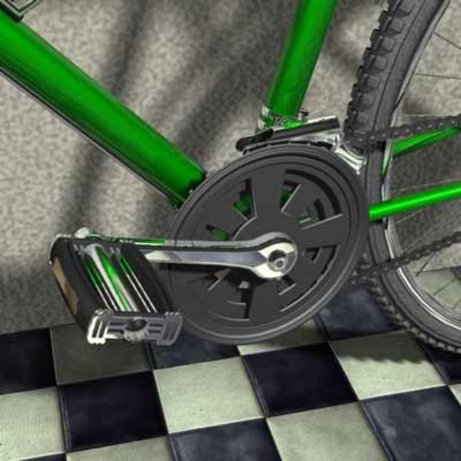 Mountainbike royalty-free 3d model - Preview no. 5