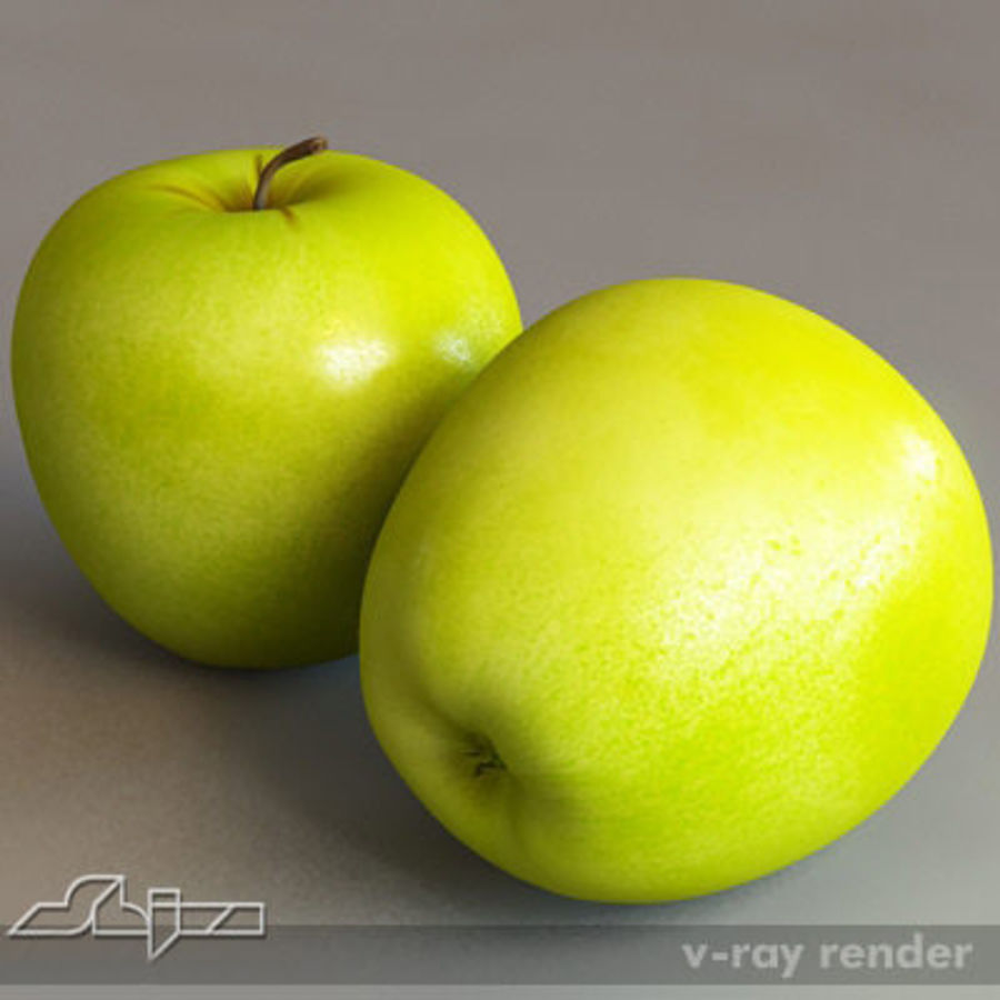 Apple royalty-free 3d model - Preview no. 1