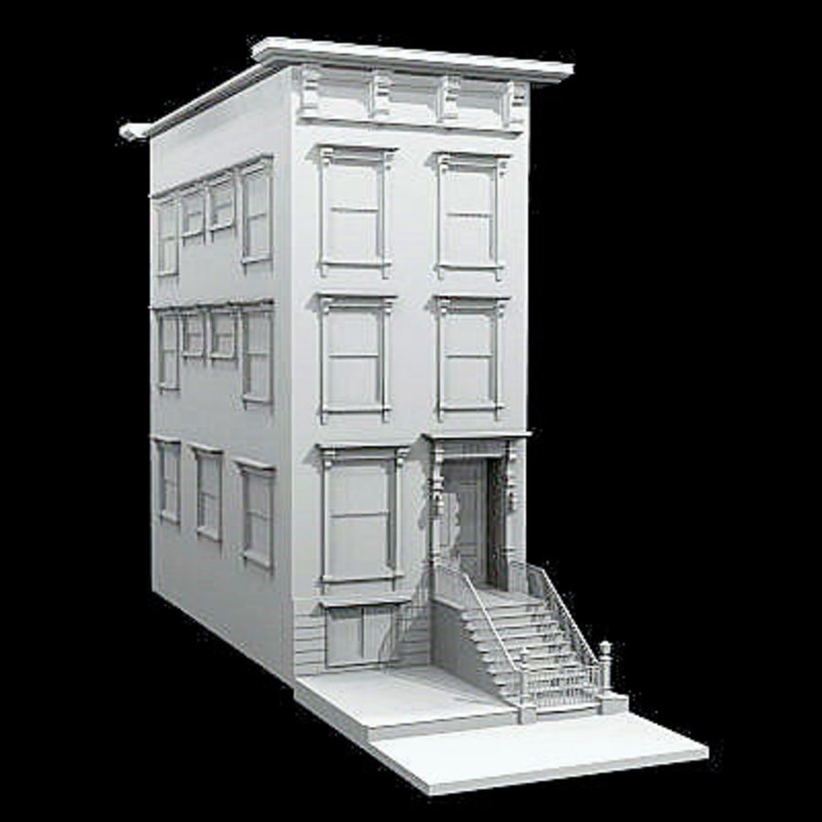 New York Brownstone royalty-free 3d model - Preview no. 4