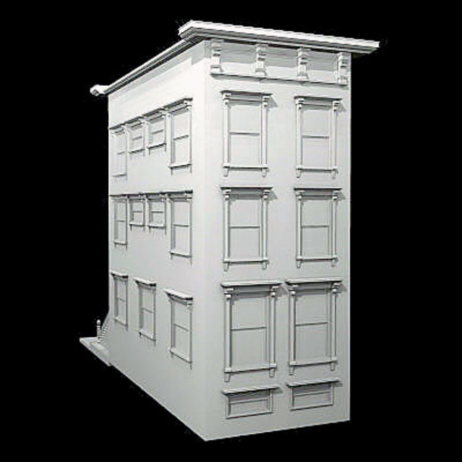 New York Brownstone royalty-free 3d model - Preview no. 5