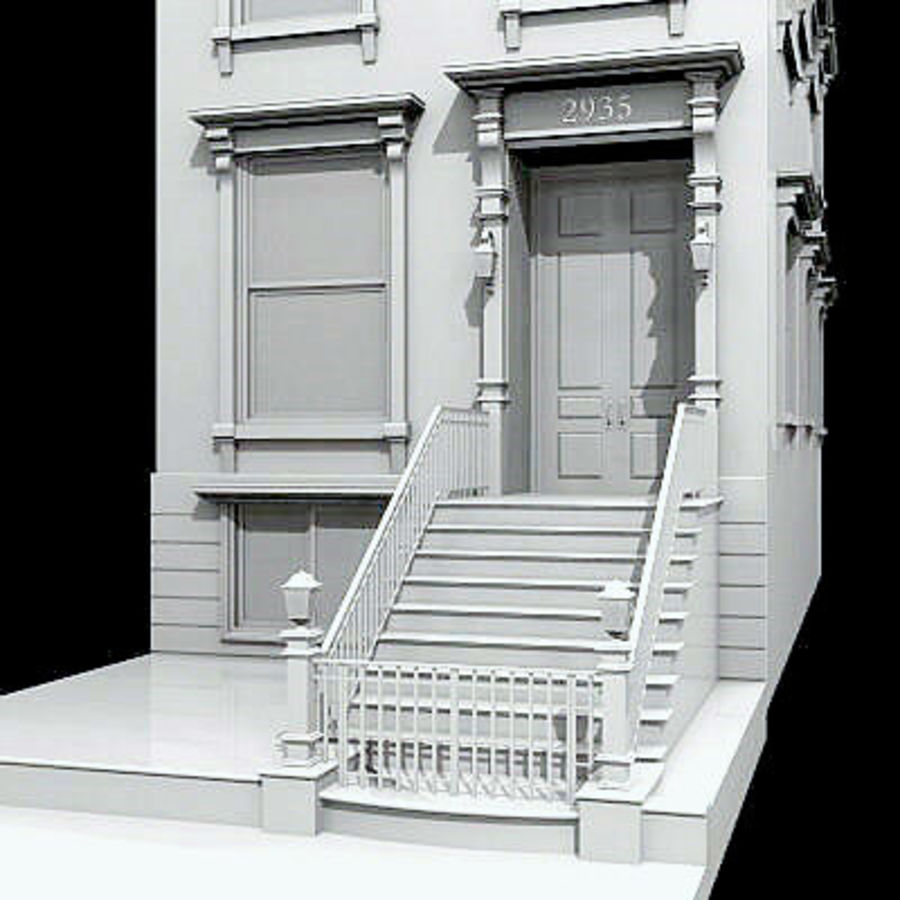 New York Brownstone royalty-free 3d model - Preview no. 1