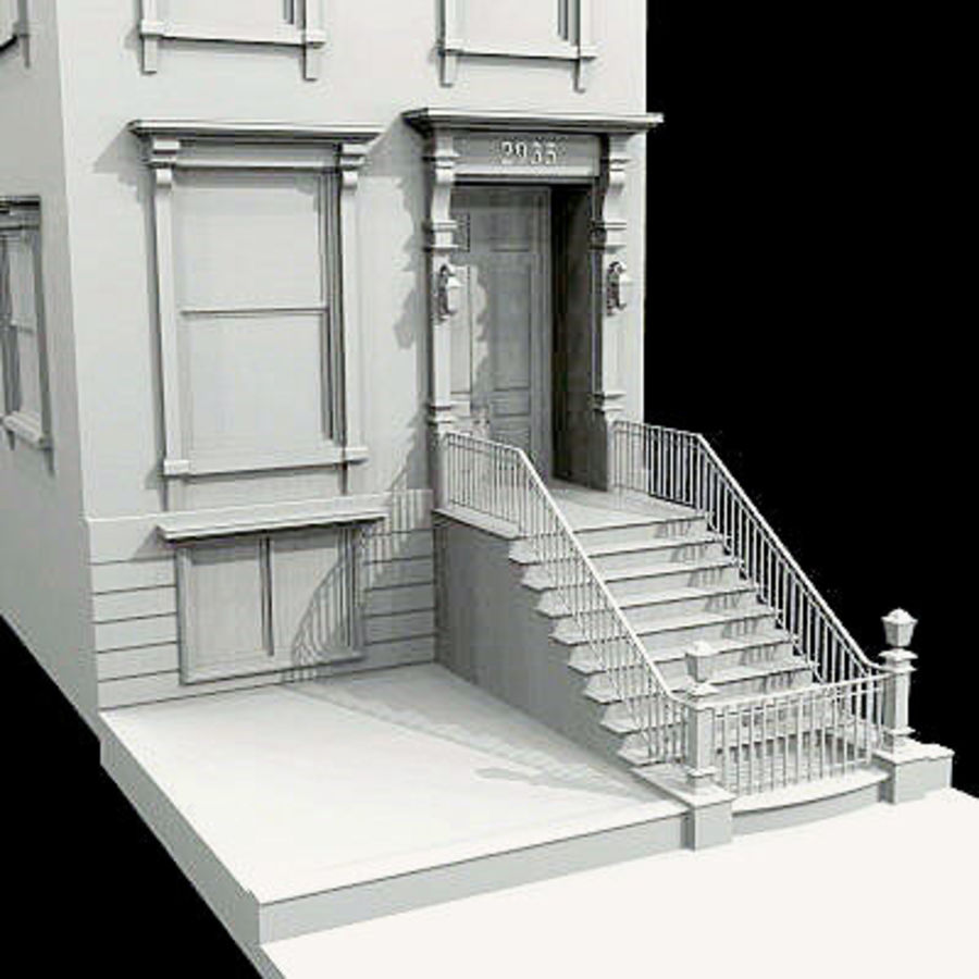 New York Brownstone royalty-free 3d model - Preview no. 2