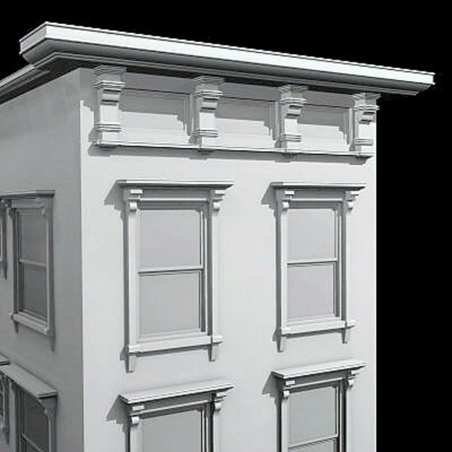 New York Brownstone royalty-free 3d model - Preview no. 3