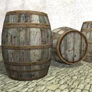 Wood Barrel K017 3d model