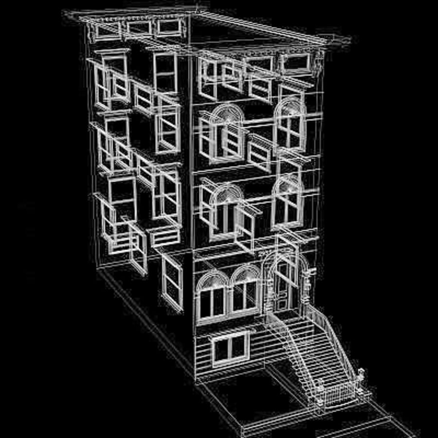 Chicago Brownstone royalty-free 3d model - Preview no. 8