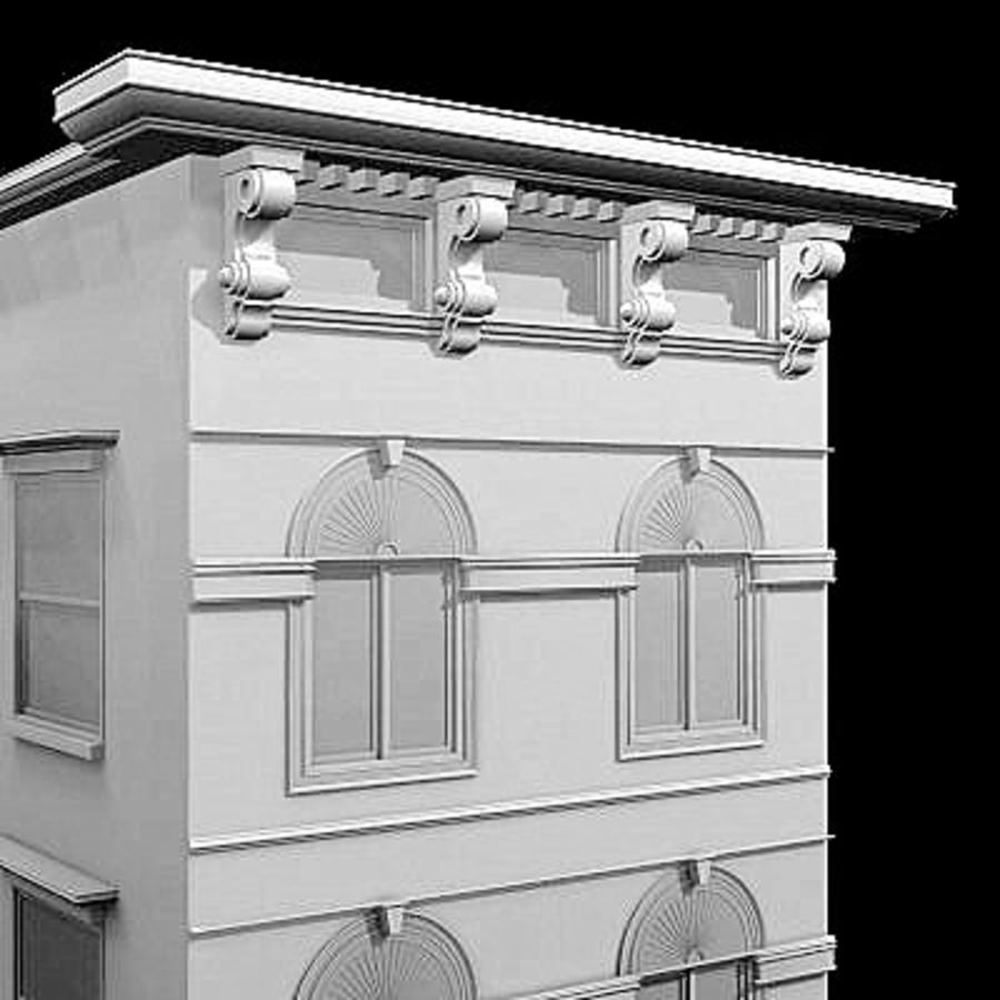 Chicago Brownstone royalty-free 3d model - Preview no. 3