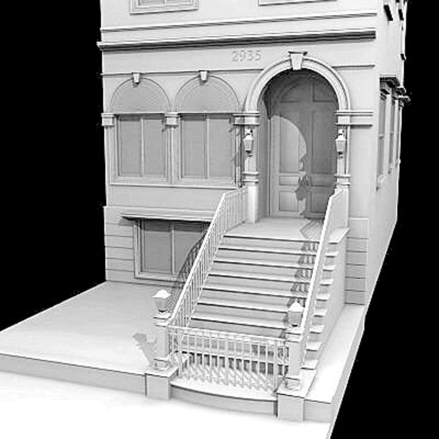 Chicago Brownstone royalty-free 3d model - Preview no. 1