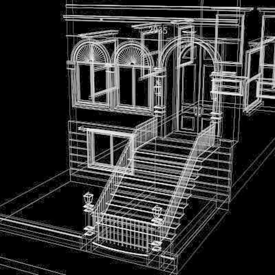 Chicago Brownstone royalty-free 3d model - Preview no. 6
