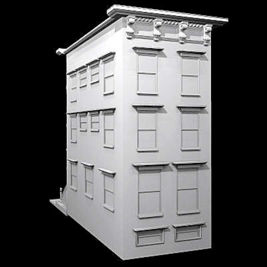 Chicago Brownstone royalty-free 3d model - Preview no. 5