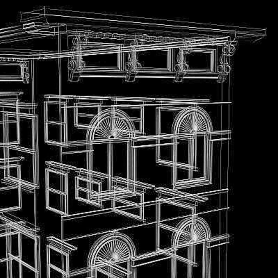 Chicago Brownstone royalty-free 3d model - Preview no. 7