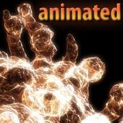 animated virus 3d model