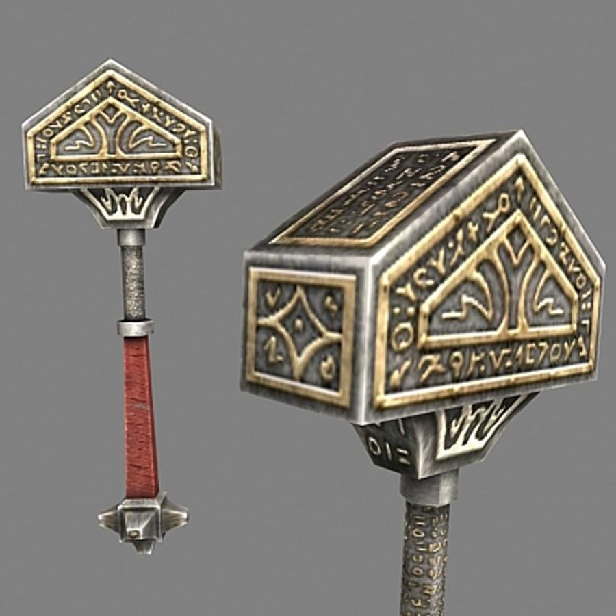 tri_hammer royalty-free 3d model - Preview no. 1